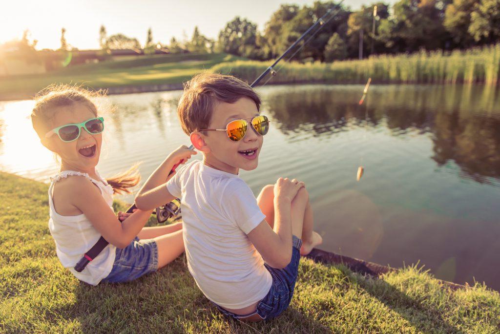 fisketur med børn